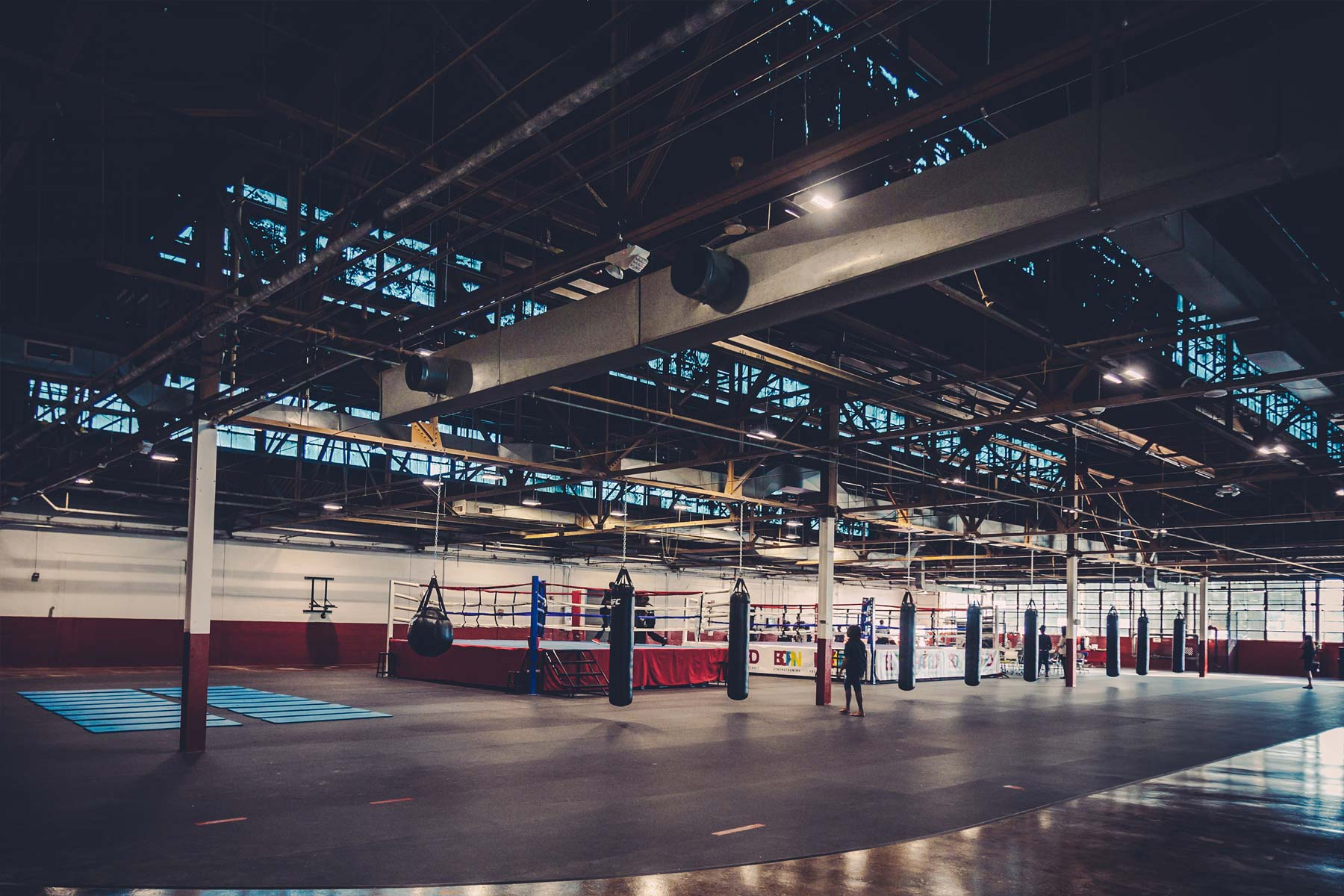 down town youth boxing gym at Detroit